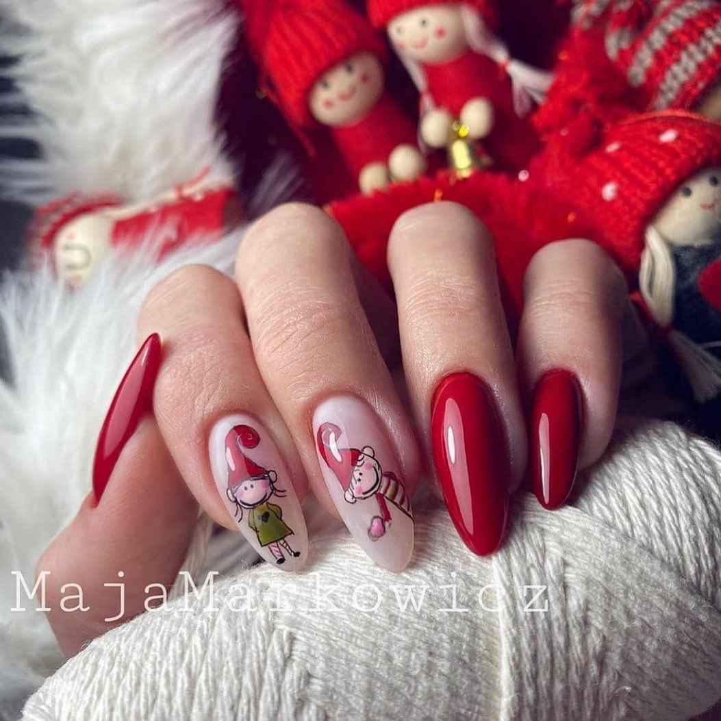 Рождественский маникюр 2020 фото_48