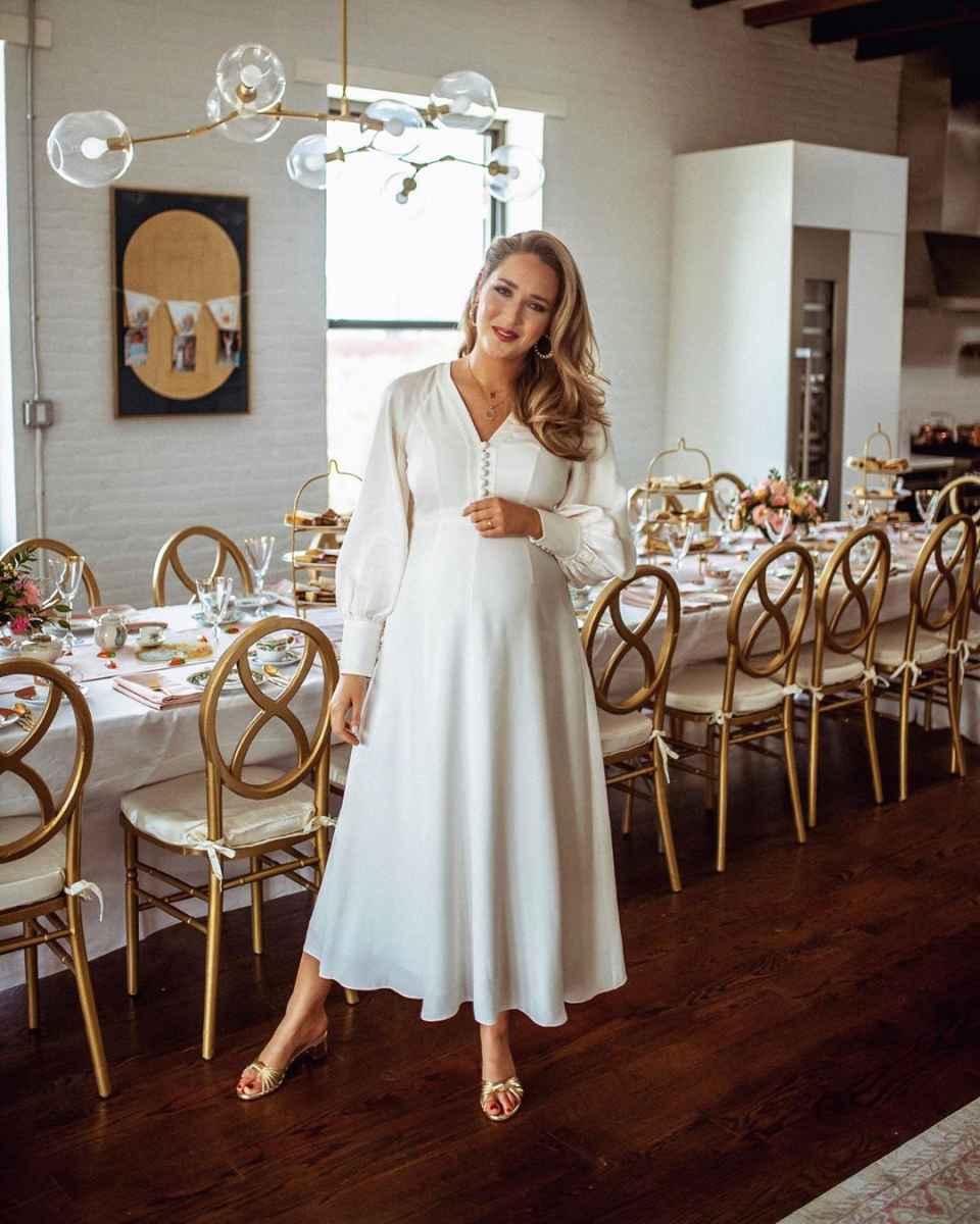 Платья для беременных на Новый год 2020 фото_2