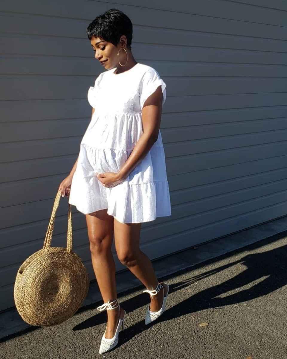 Платья для беременных на Новый год 2020 фото_43