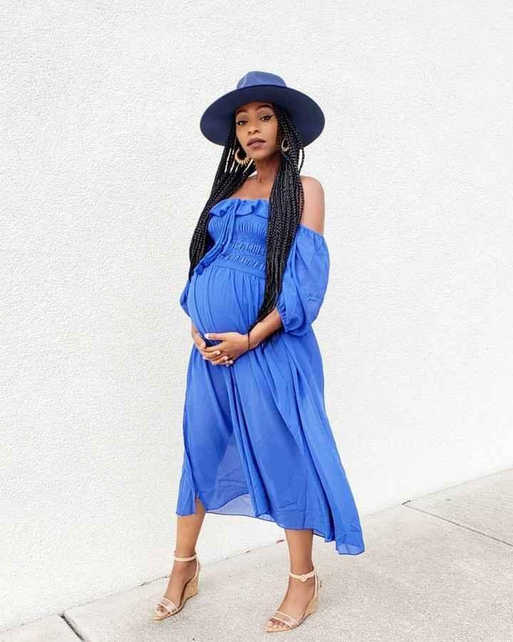 Платья для беременных на Новый год 2020 фото_36