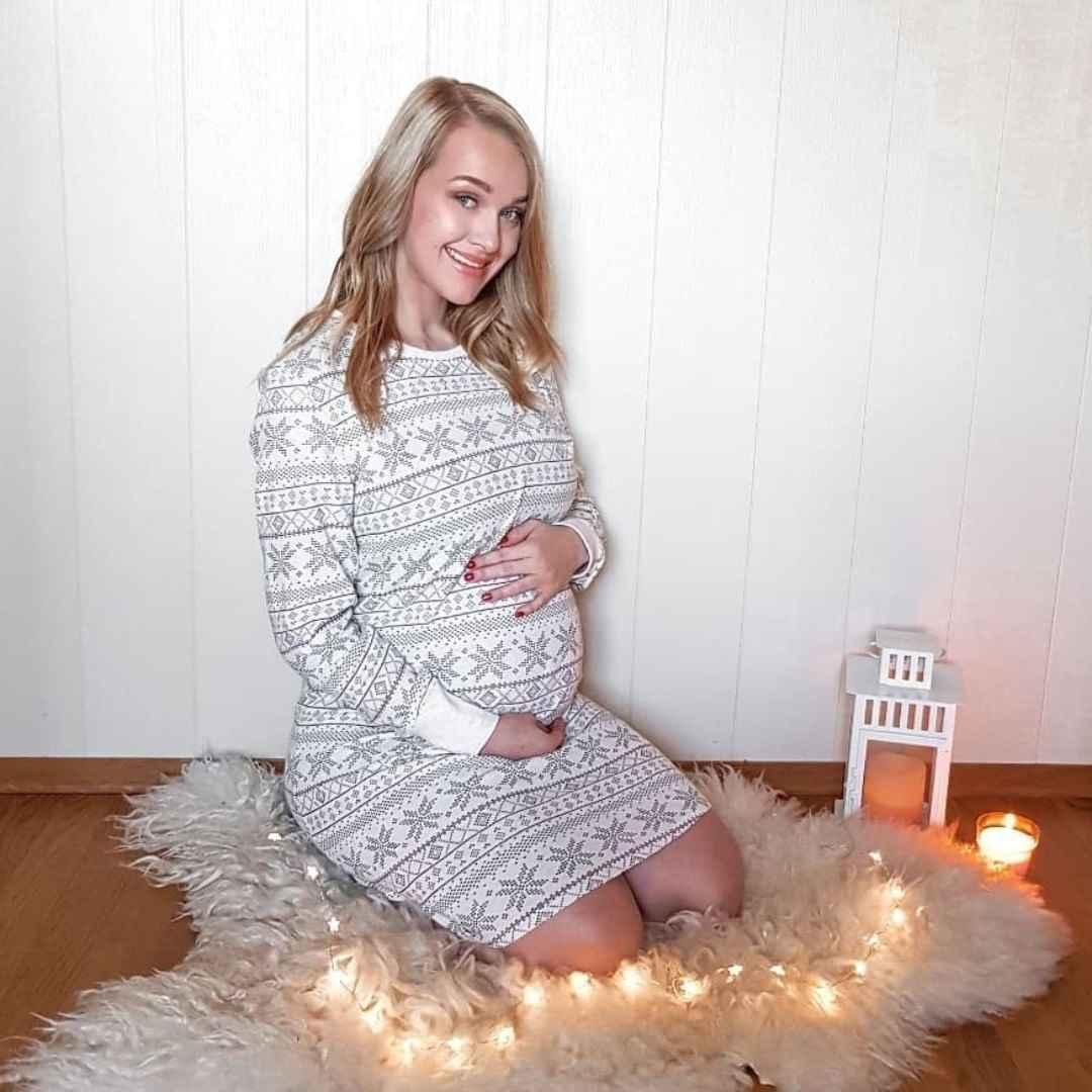 Платья для беременных на Новый год 2020 фото_24