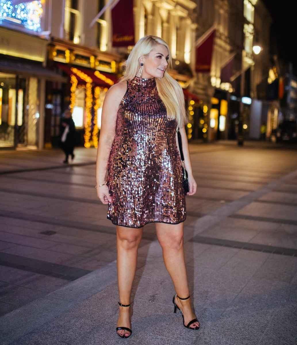 Платья для полных женщин на Новый год 2020 фото_22