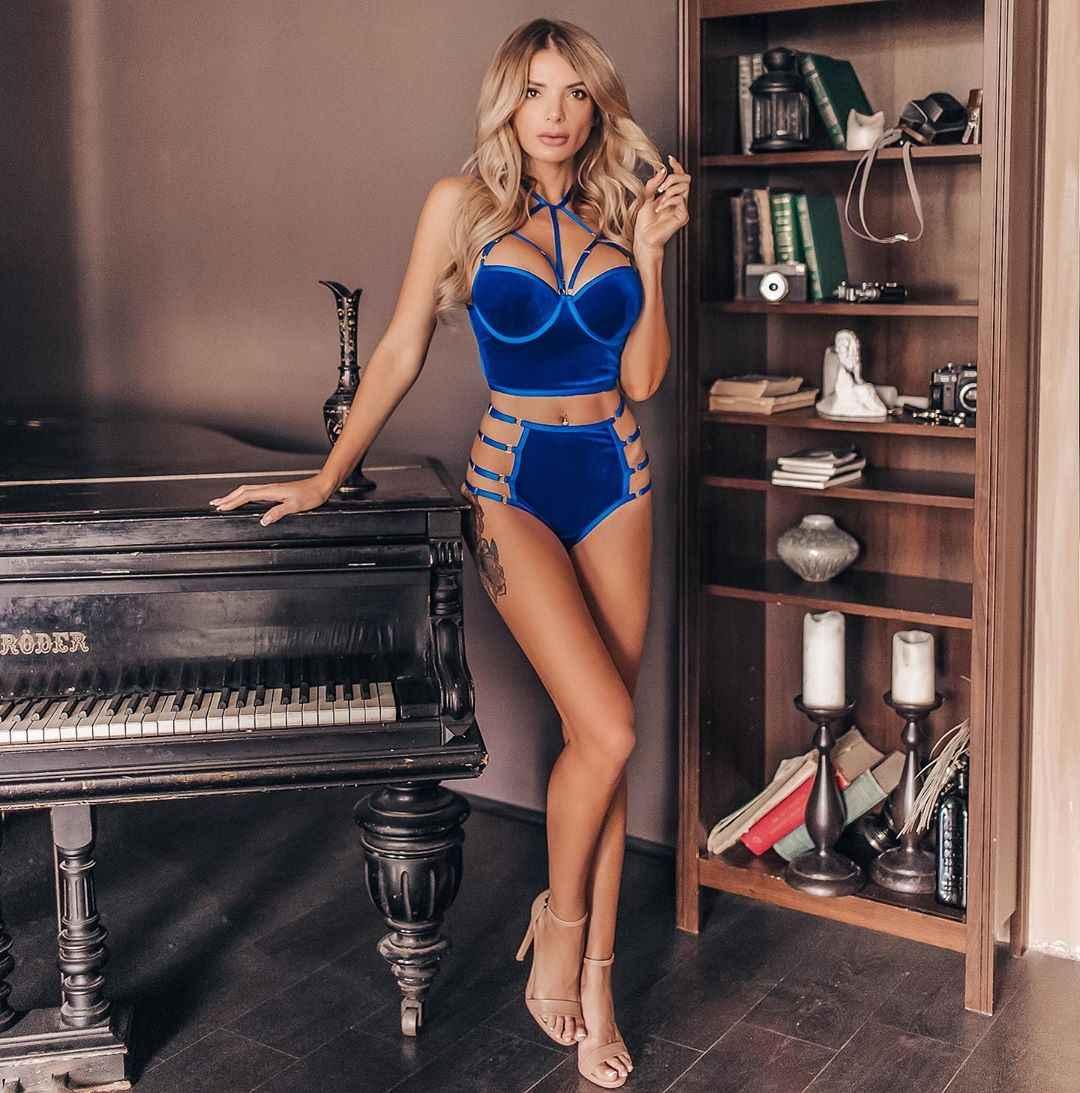 красивое синее женское нижнее белье фото_22