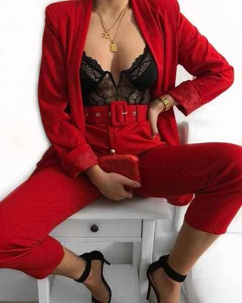 Модные женские образы на день святого Валентина 2020 фото_9