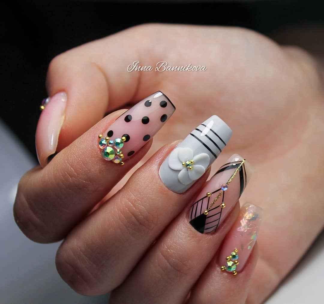 Лепка на ногтях 2020 фото_25
