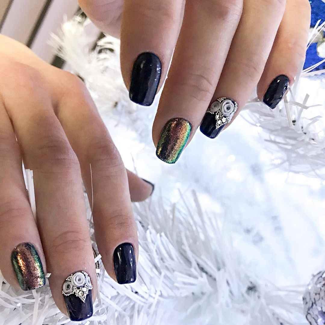 Лепка на ногтях 2020 фото_43