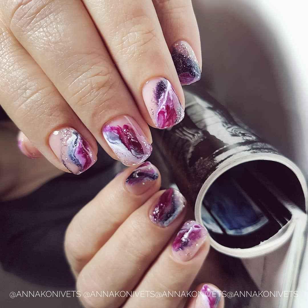 Фантазийные текстуры на ногтях фото_7