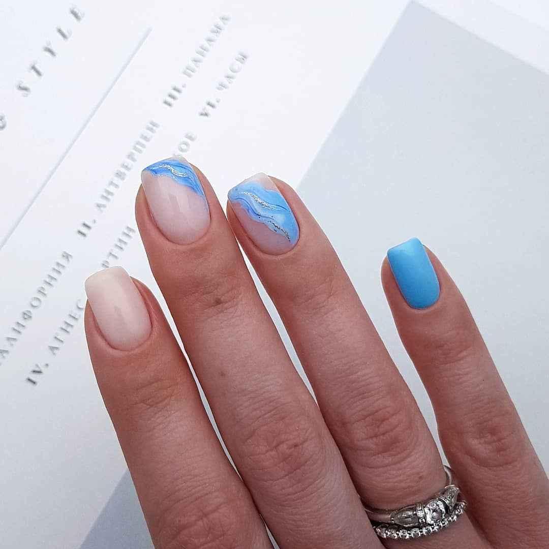 Фантазийные текстуры на ногтях фото_2