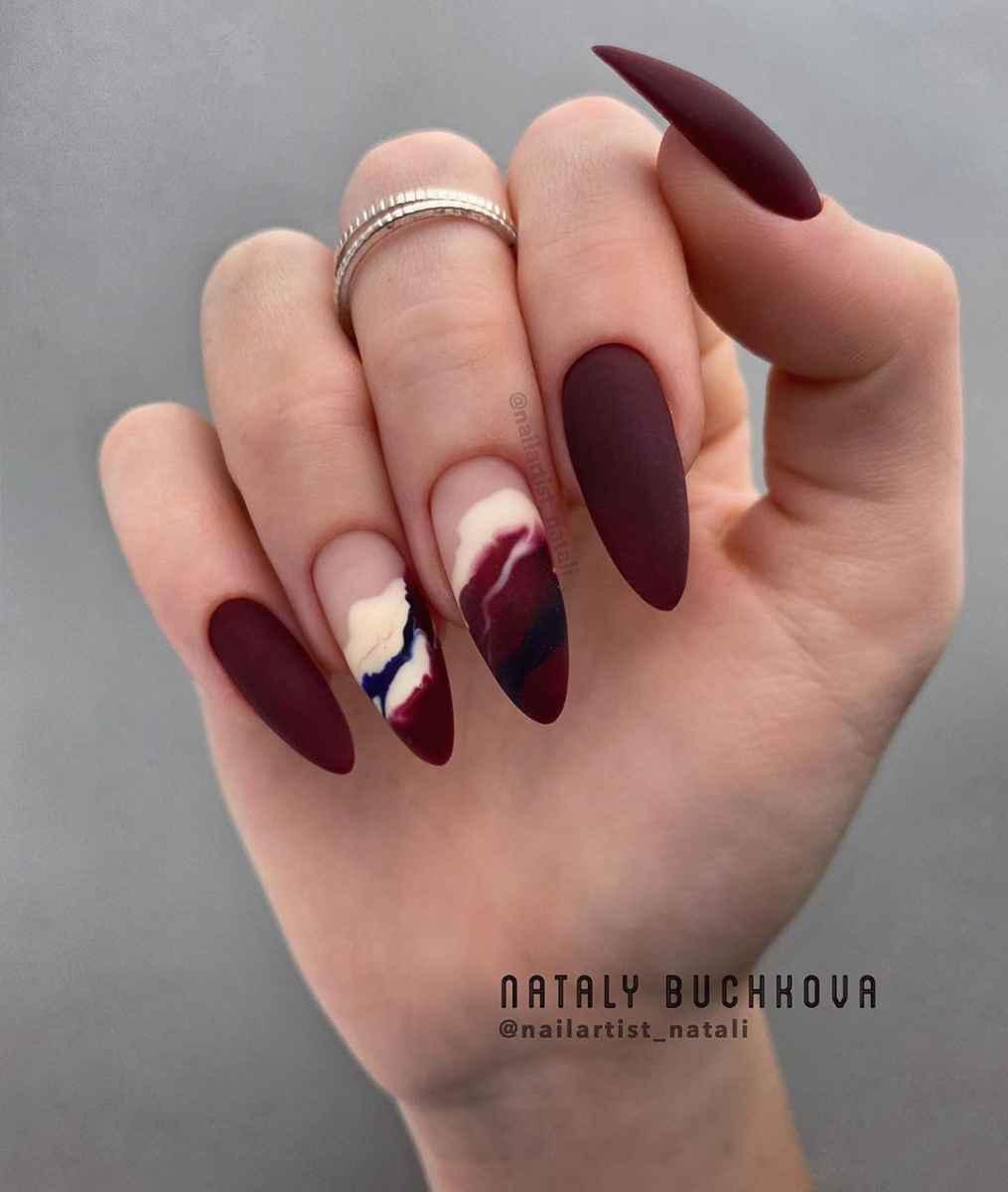 Фантазийные текстуры на ногтях фото_30