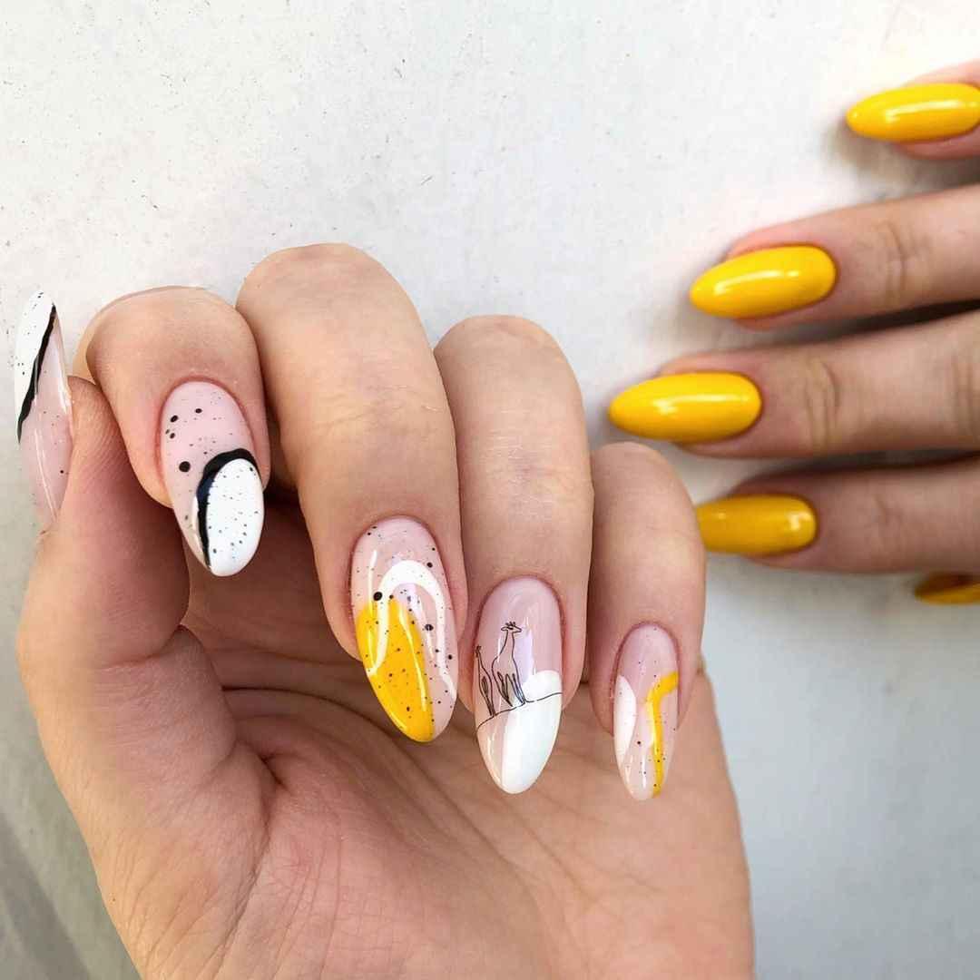 жираф на ногтях фото_41