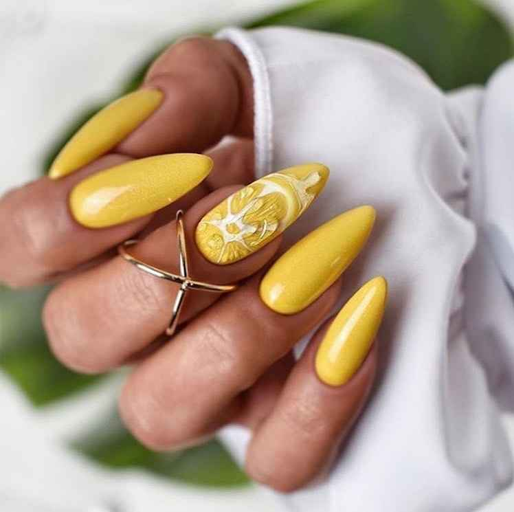 маникюр с лимоном фото_4