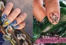 Жираф на ногтях фото идеи