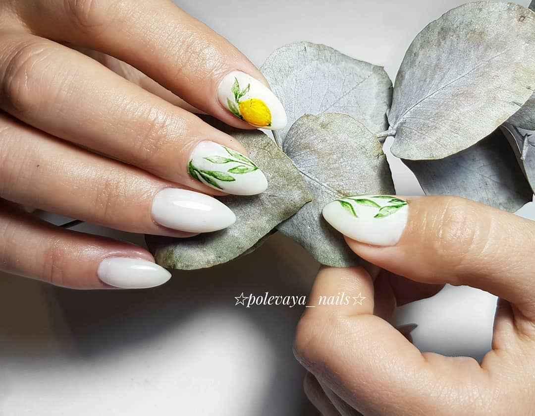 маникюр с лимоном фото_8