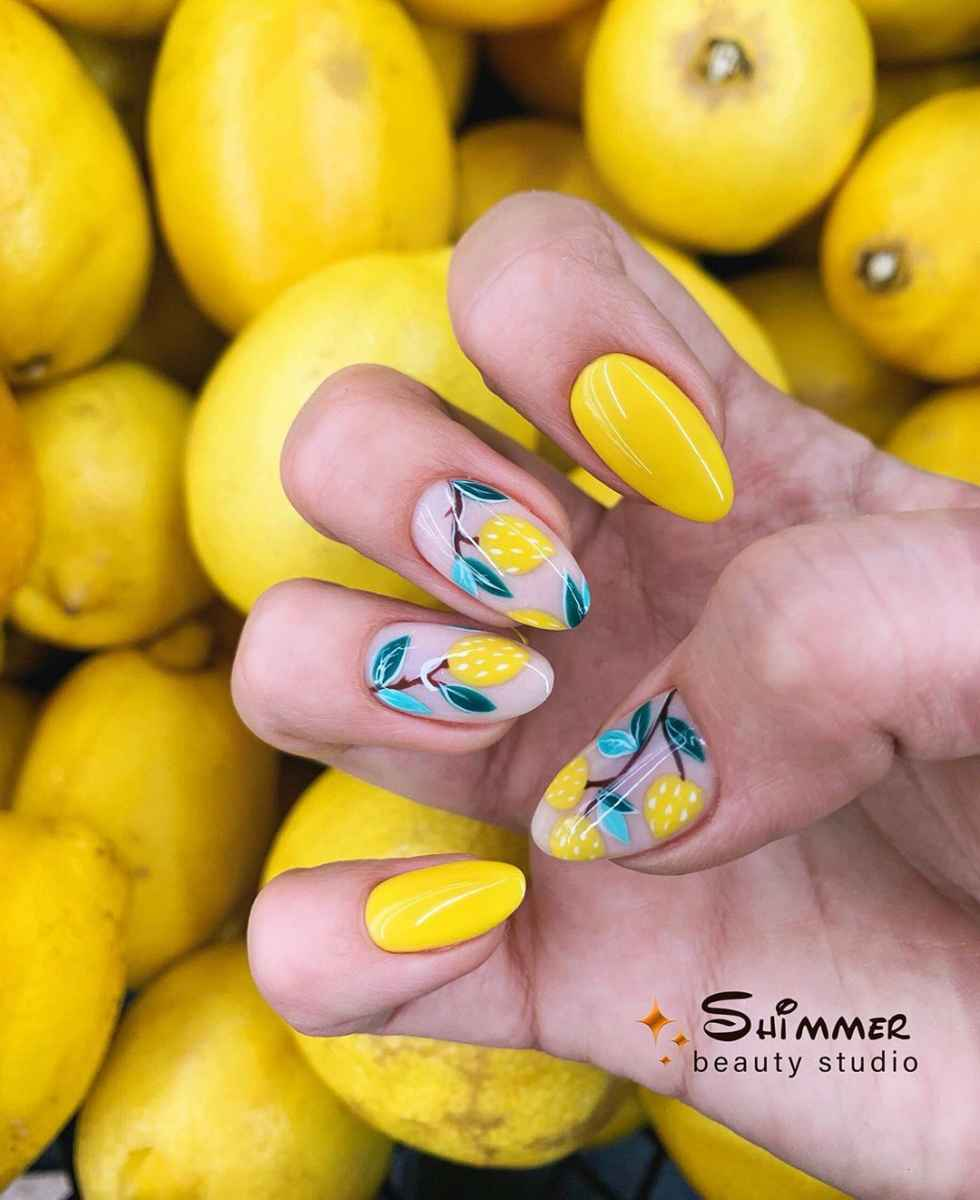 маникюр с лимоном фото_2