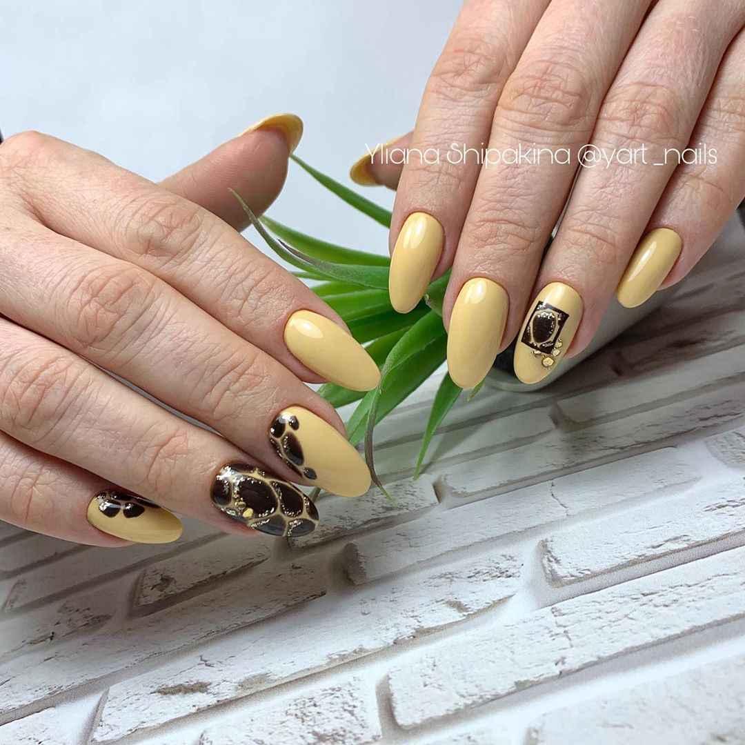 жираф на ногтях фото_25
