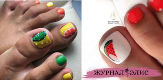 Педикюр с фруктами и ягодами фото идеи