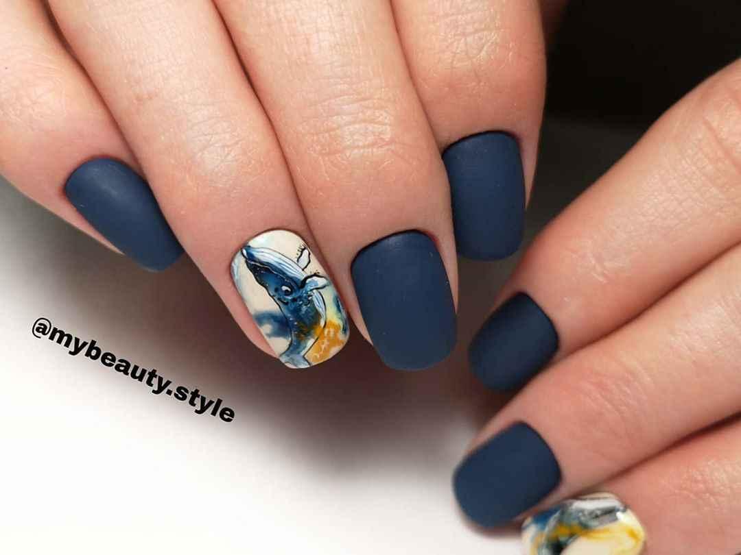 Маникюр с китами фото_20