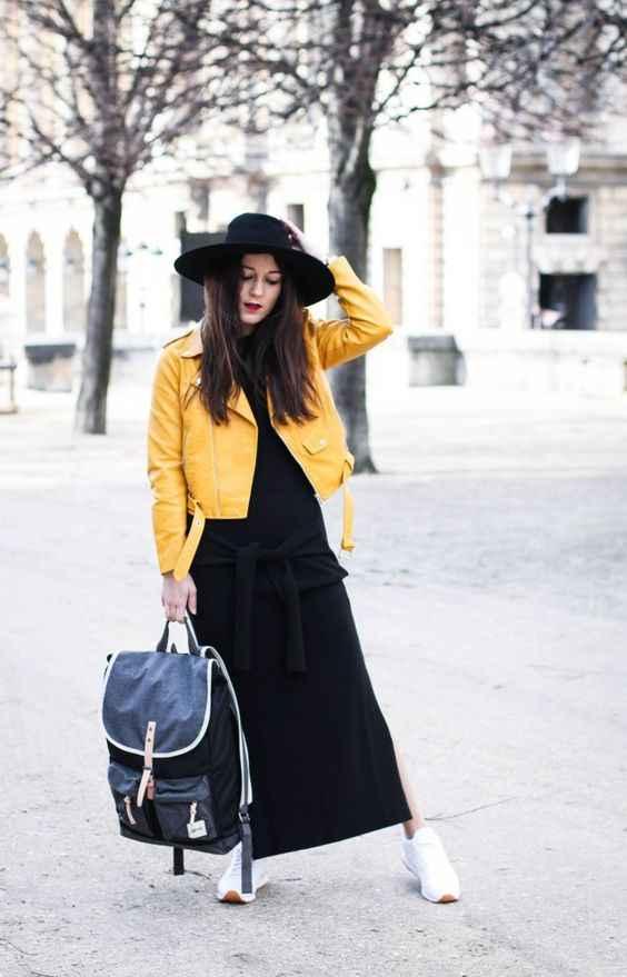 С чем носить желтую куртку фото_15