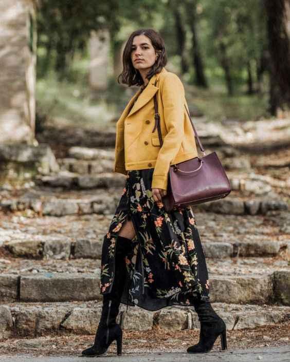 С чем носить желтую куртку фото_4