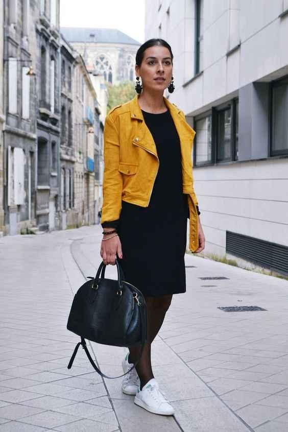 С чем носить желтую куртку фото_6