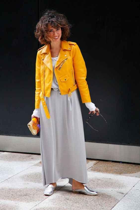 С чем носить желтую куртку фото_5