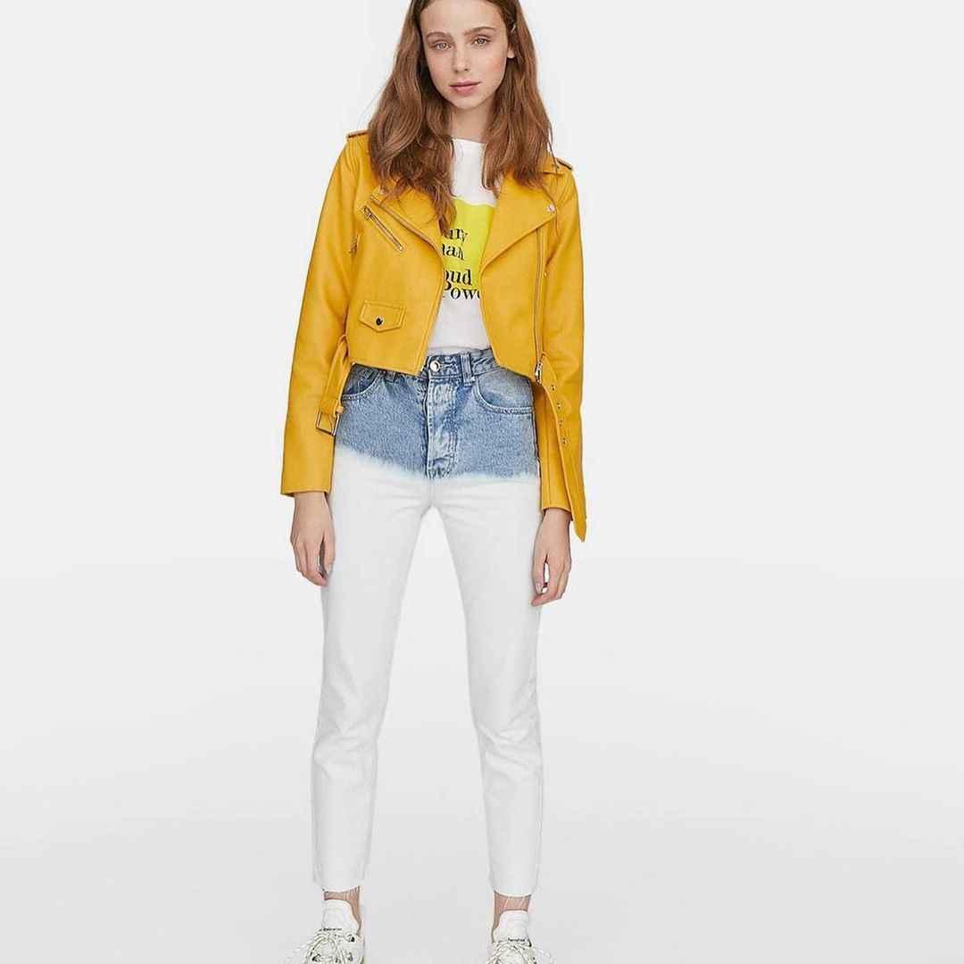 С чем носить желтую куртку фото_20