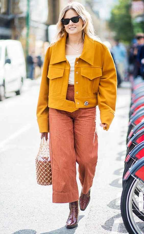 С чем носить желтую куртку фото_2