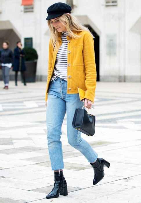 С чем носить желтую куртку фото_1