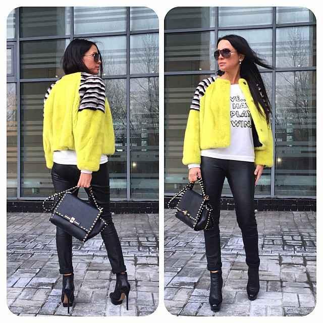 С чем носить желтую куртку фото_16