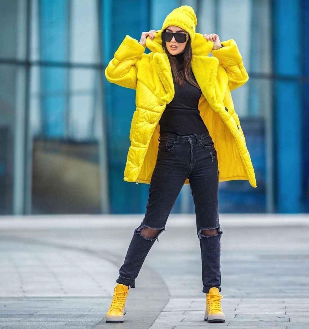 С чем носить желтую куртку фото_33