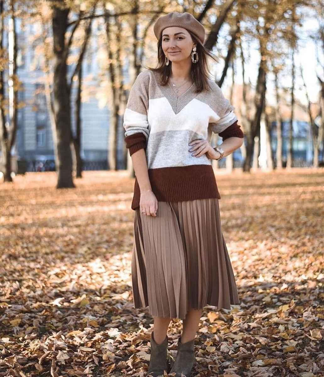 Модные береты осень-зима 2020-2021 фото_44