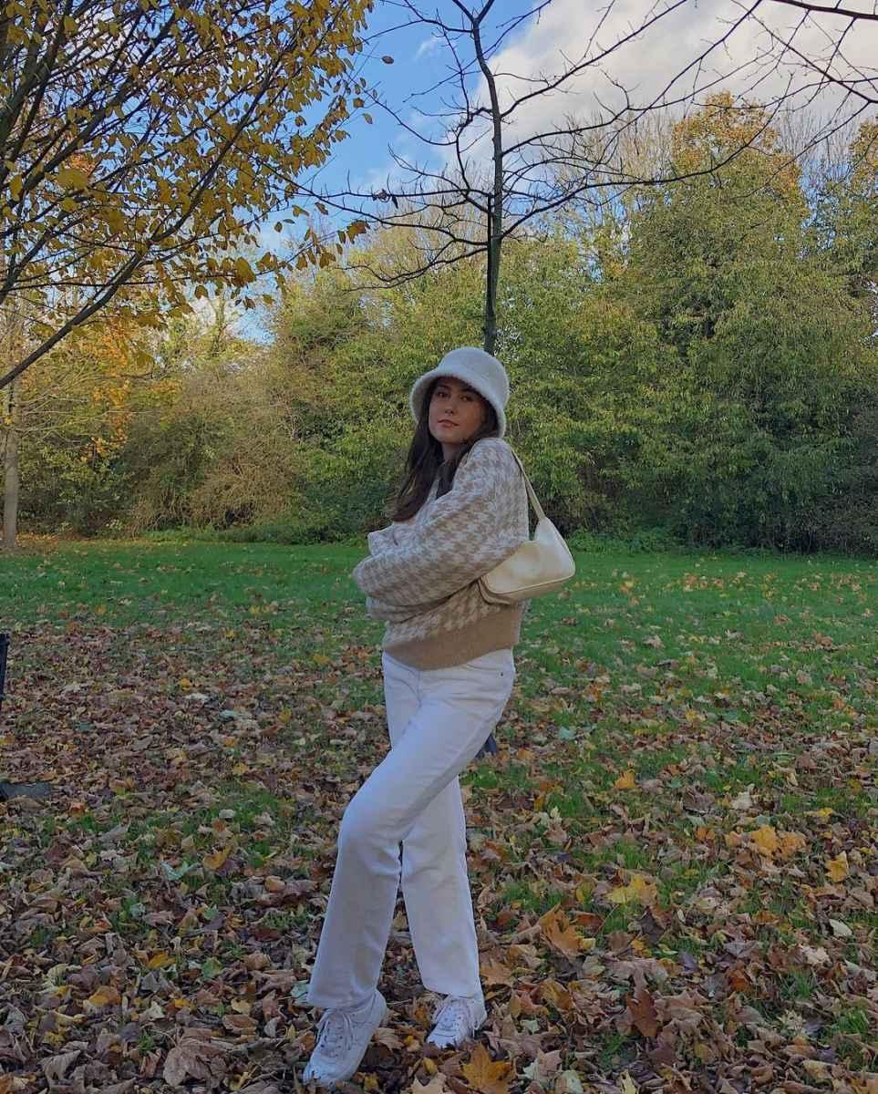 С чем носить панаму женскую осенью и зимой фото_3
