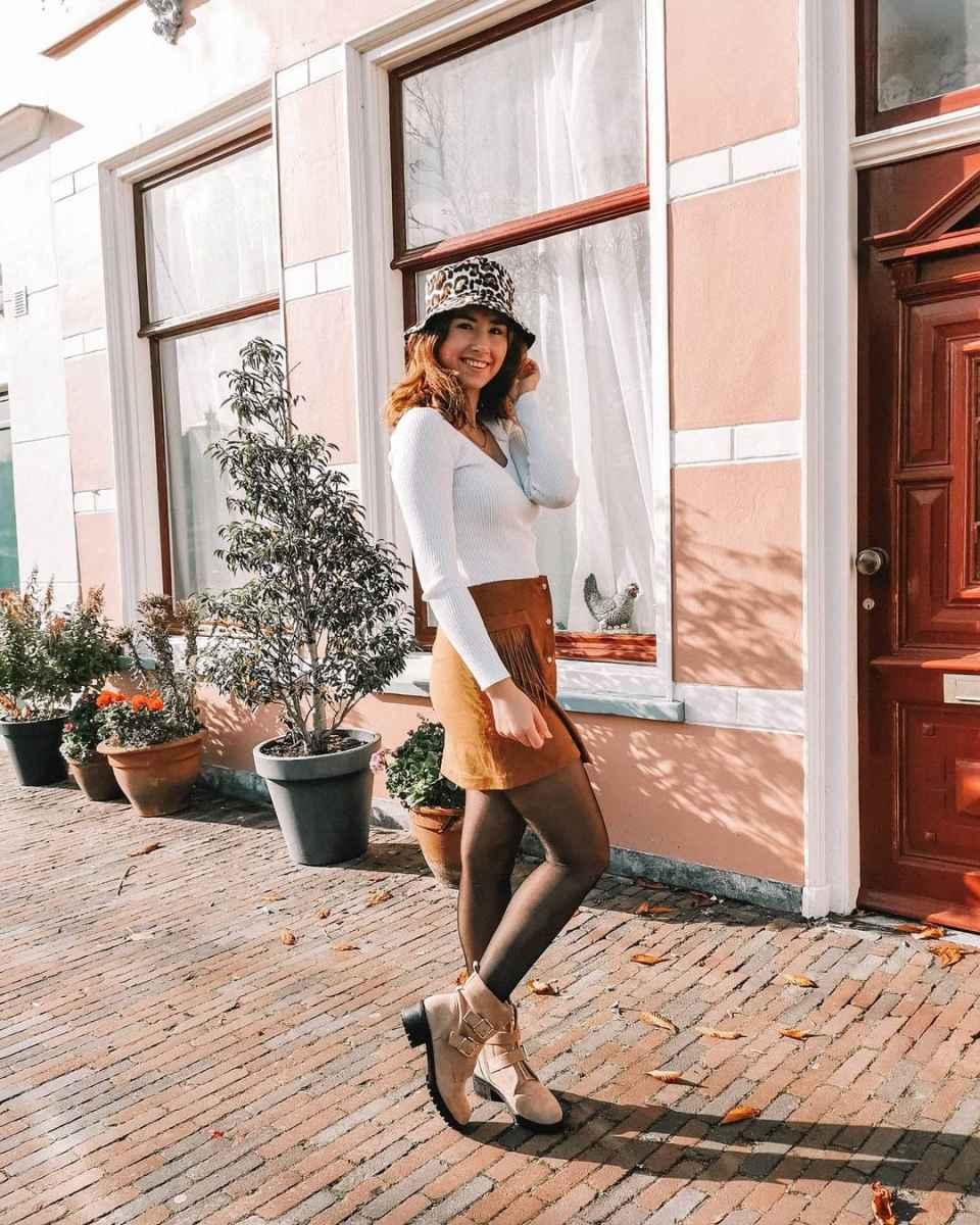 С чем носить панаму женскую осенью и зимой фото_4