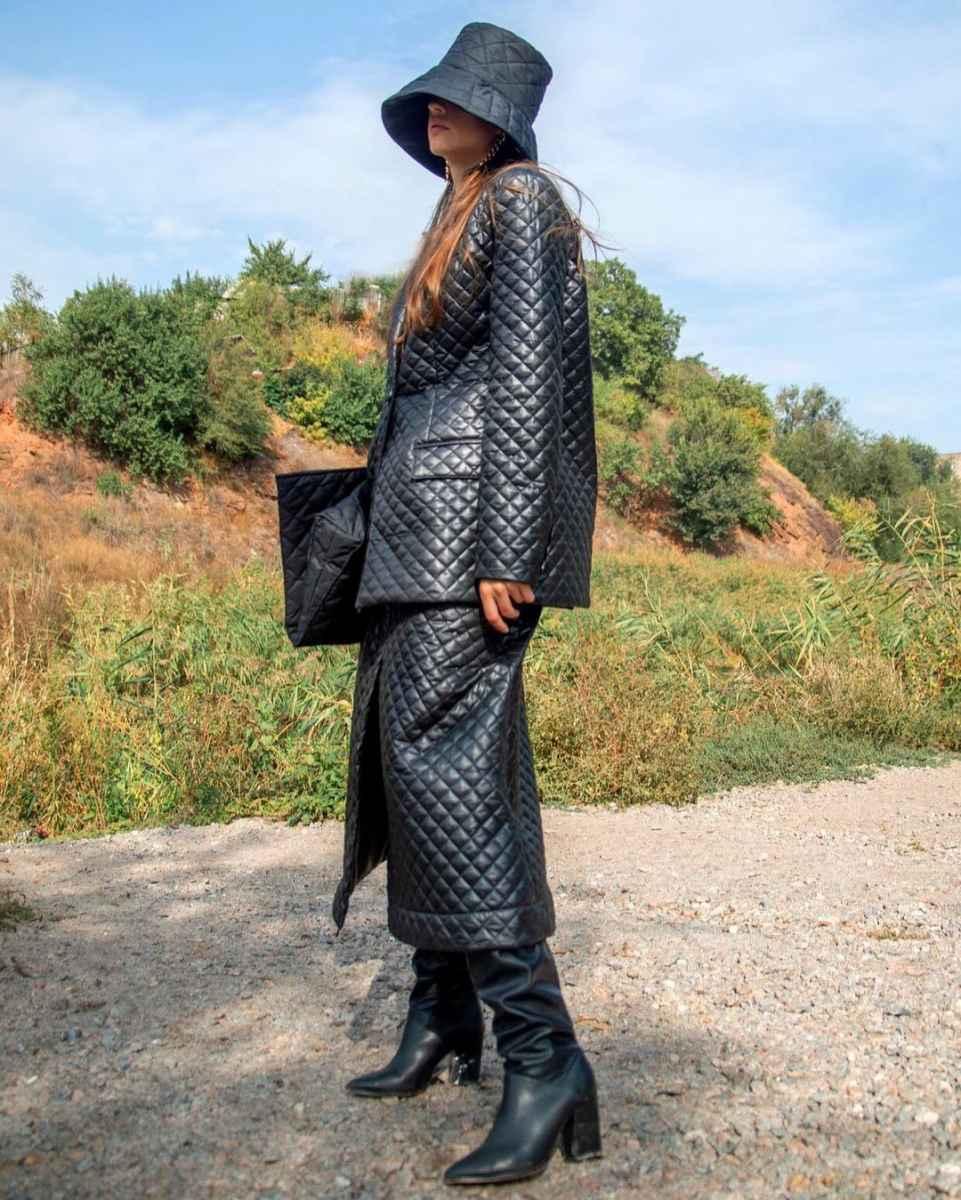 С чем носить панаму женскую осенью и зимой фото_23