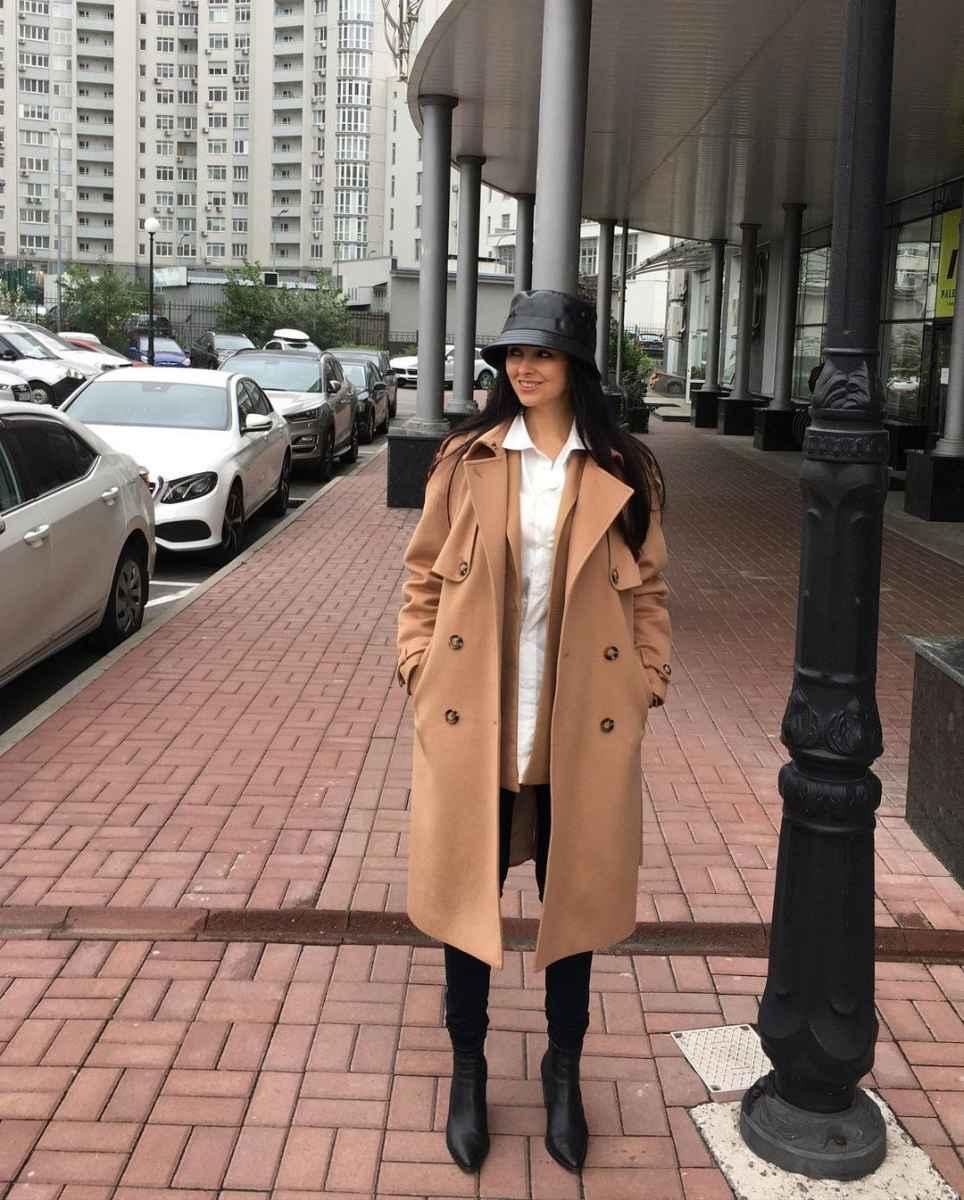 С чем носить панаму женскую осенью и зимой фото_57