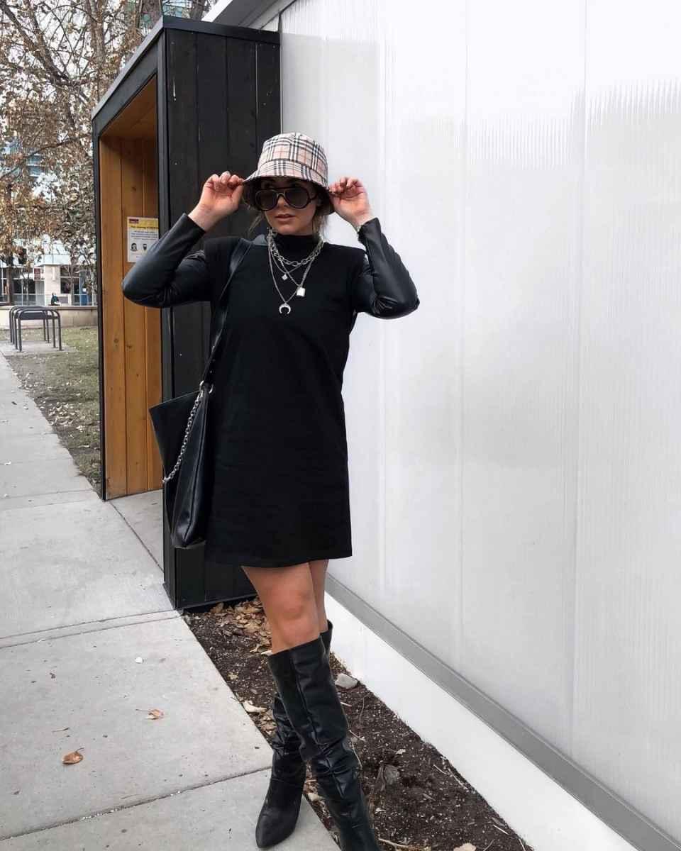 С чем носить панаму женскую осенью и зимой фото_20