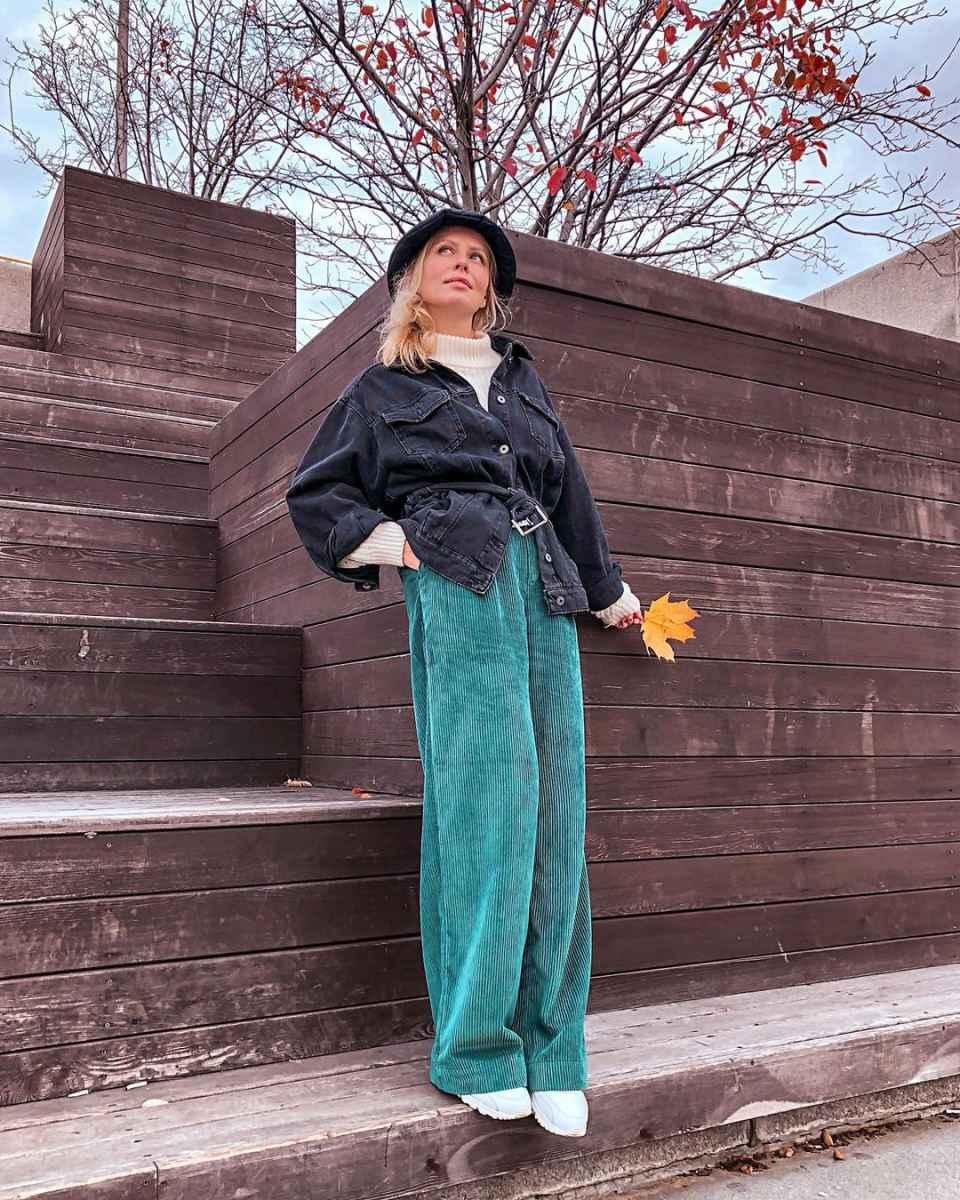 С чем носить панаму женскую осенью и зимой фото_21