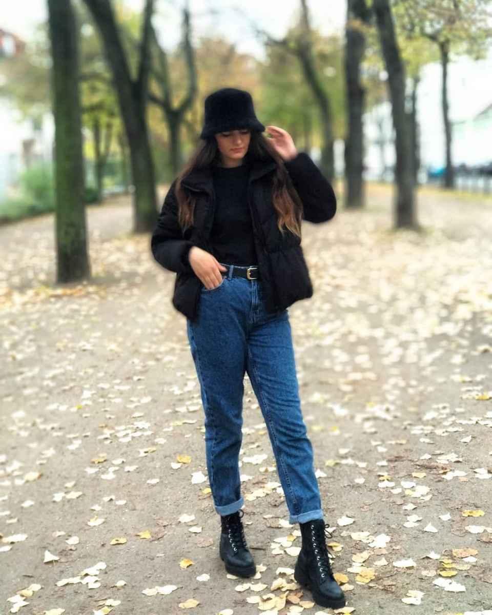 С чем носить панаму женскую осенью и зимой фото_42