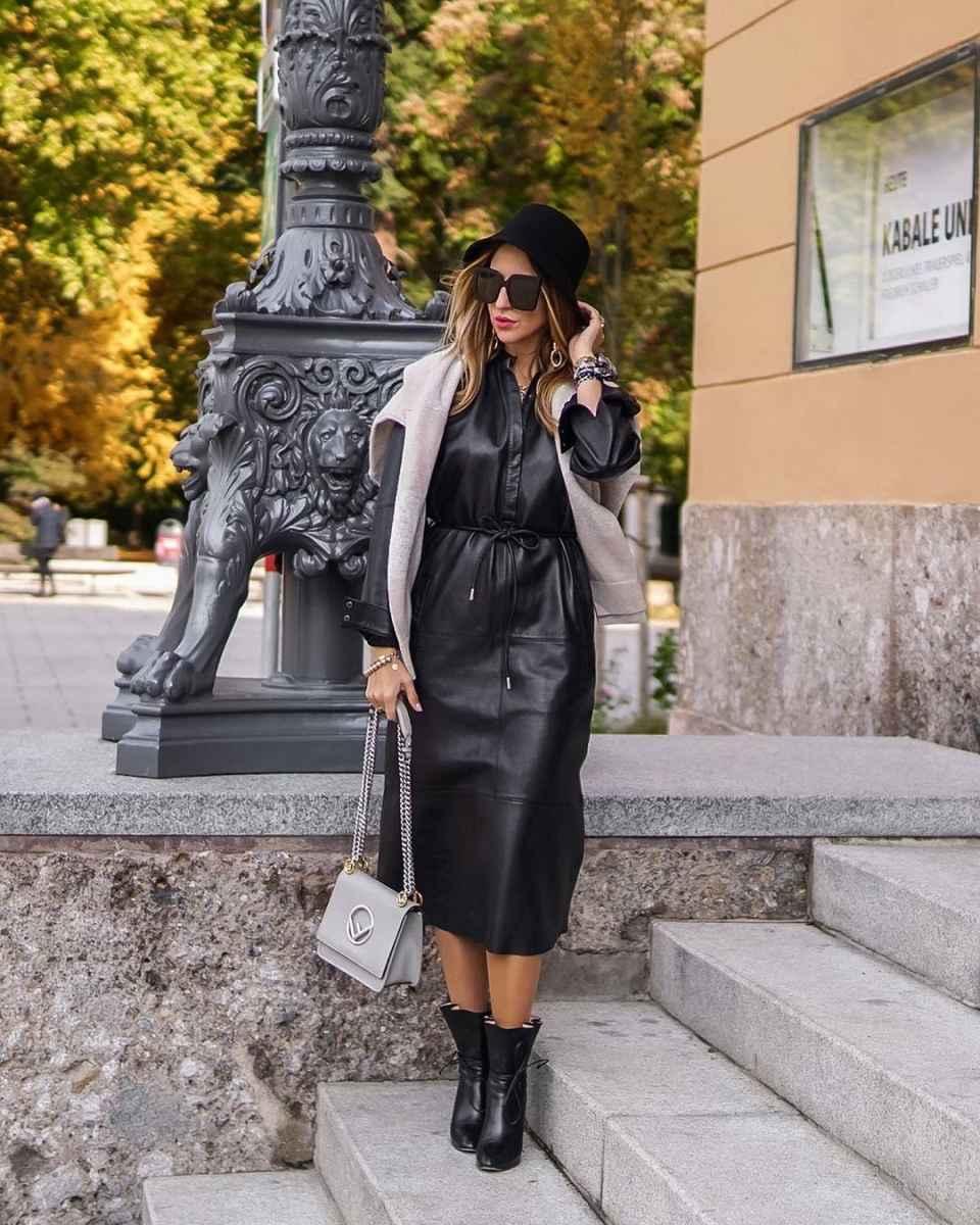С чем носить панаму женскую осенью и зимой фото_13