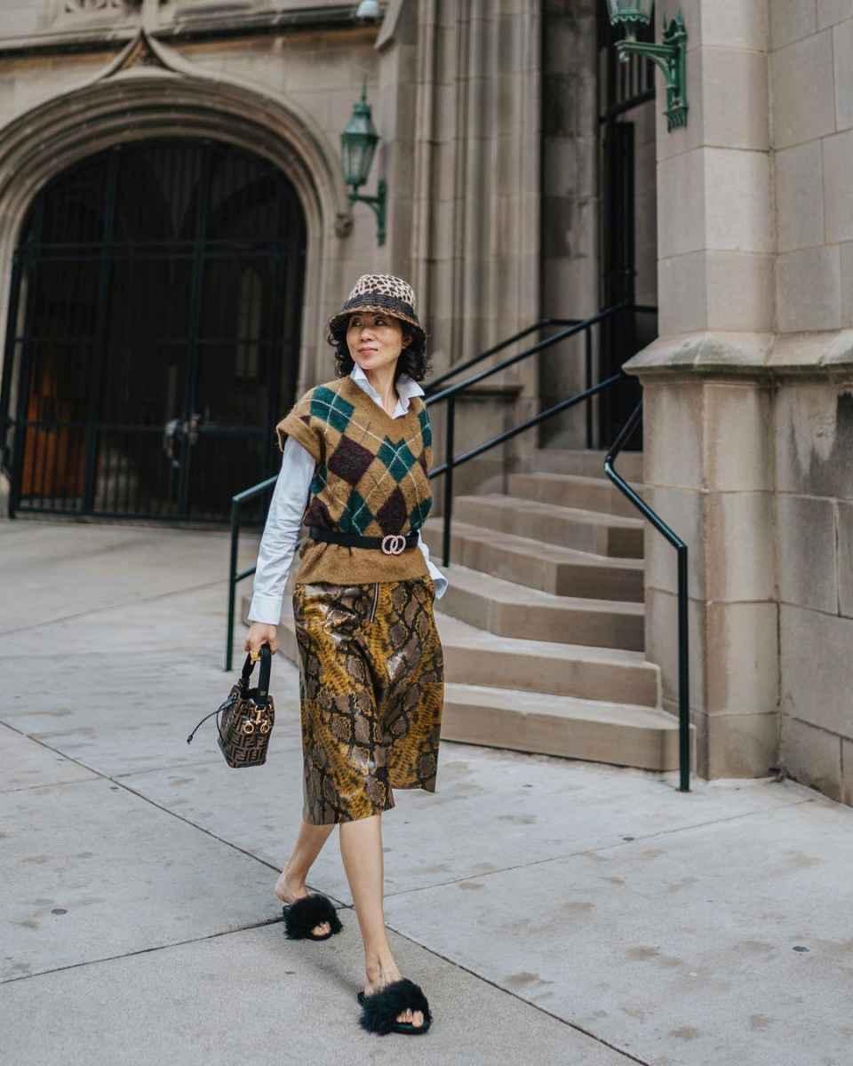 С чем носить панаму женскую осенью и зимой фото_17