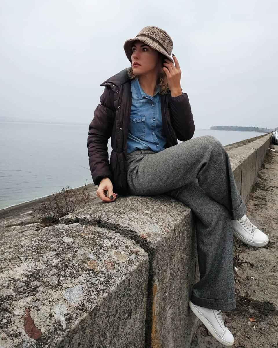 С чем носить панаму женскую осенью и зимой фото_34