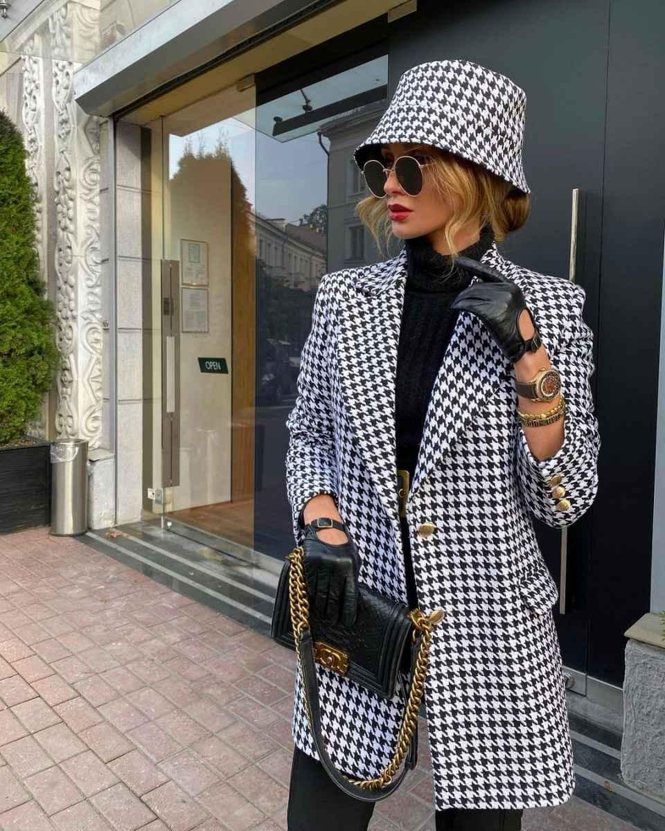 С чем носить панаму женскую осенью и зимой фото_49
