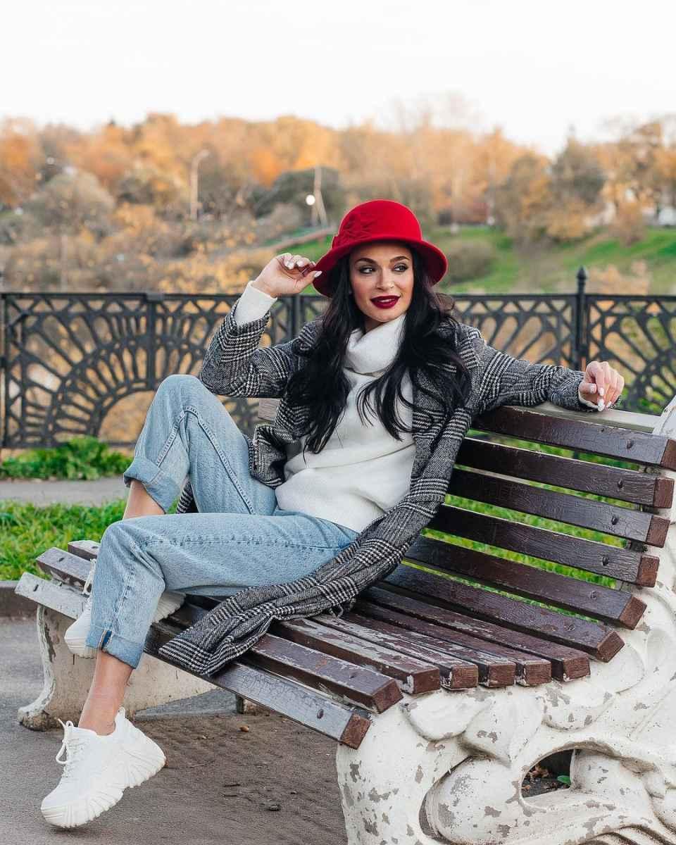 С чем носить панаму женскую осенью и зимой фото_45
