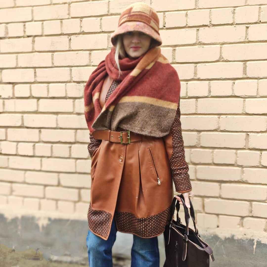 С чем носить панаму женскую осенью и зимой фото_61