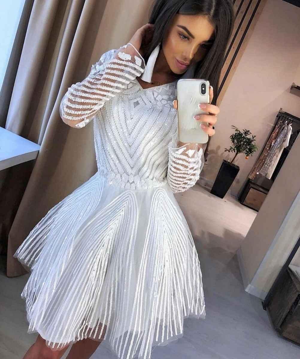 Модные белые платья для Нового Года 2021 фото_14