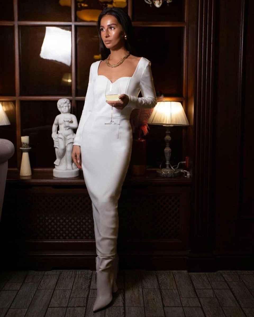 Модные белые платья для Нового Года 2021 фото_8