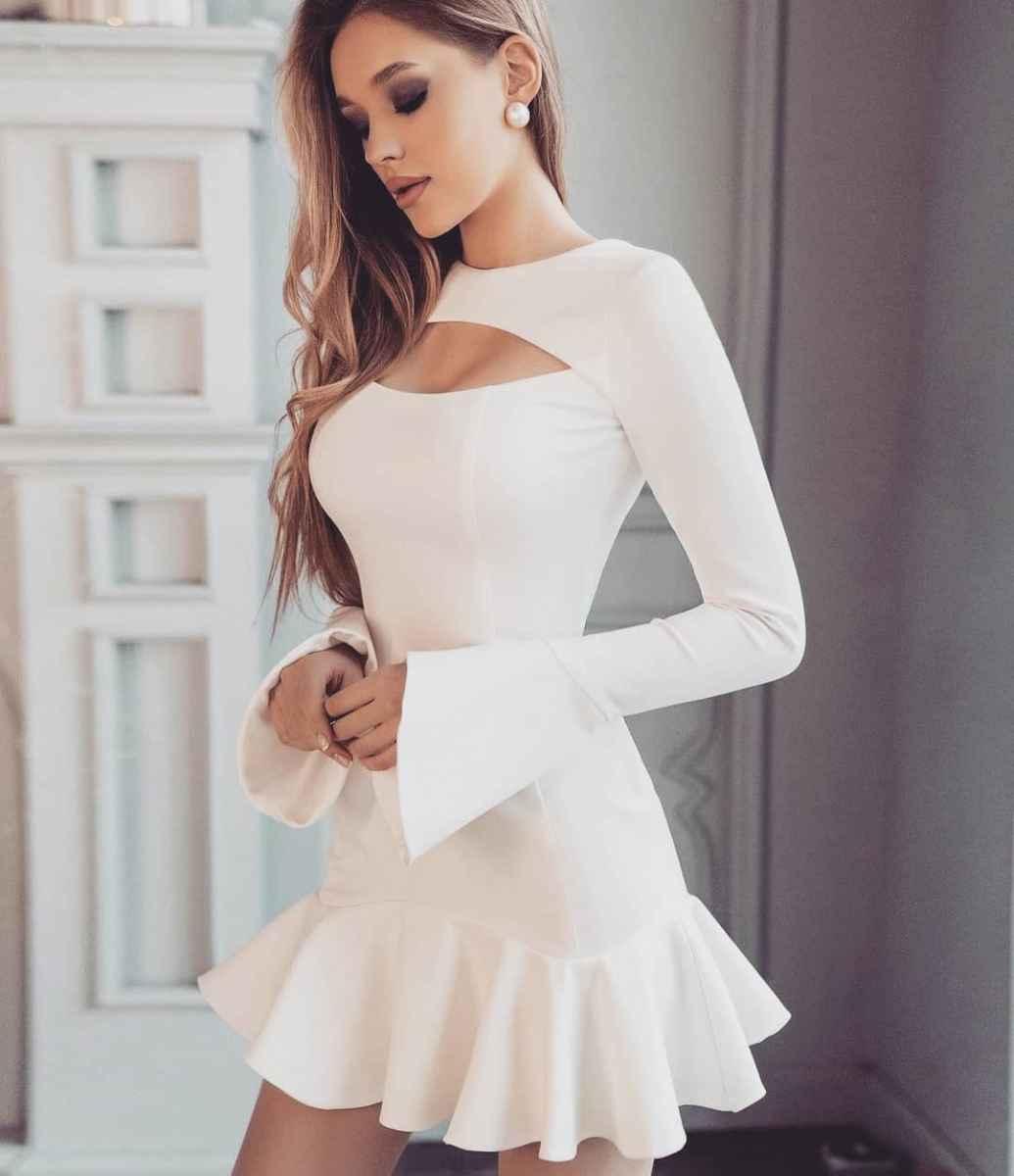 Модные белые платья для Нового Года 2021 фото_15