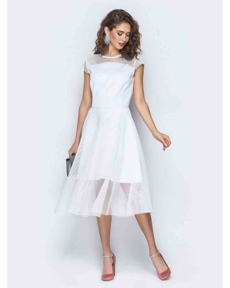 Модные белые платья для Нового Года 2021 фото_3