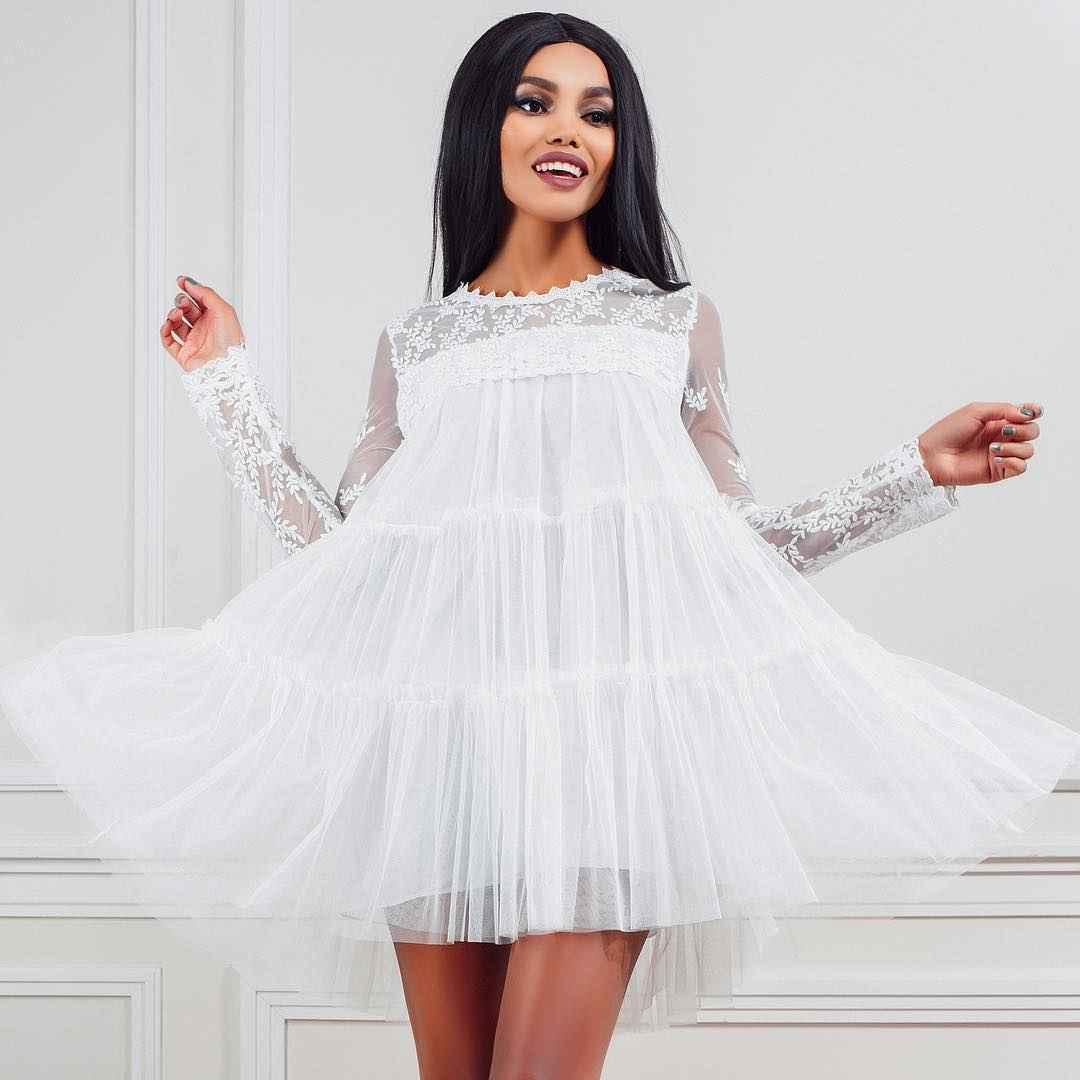 Модные белые платья для Нового Года 2021 фото_2