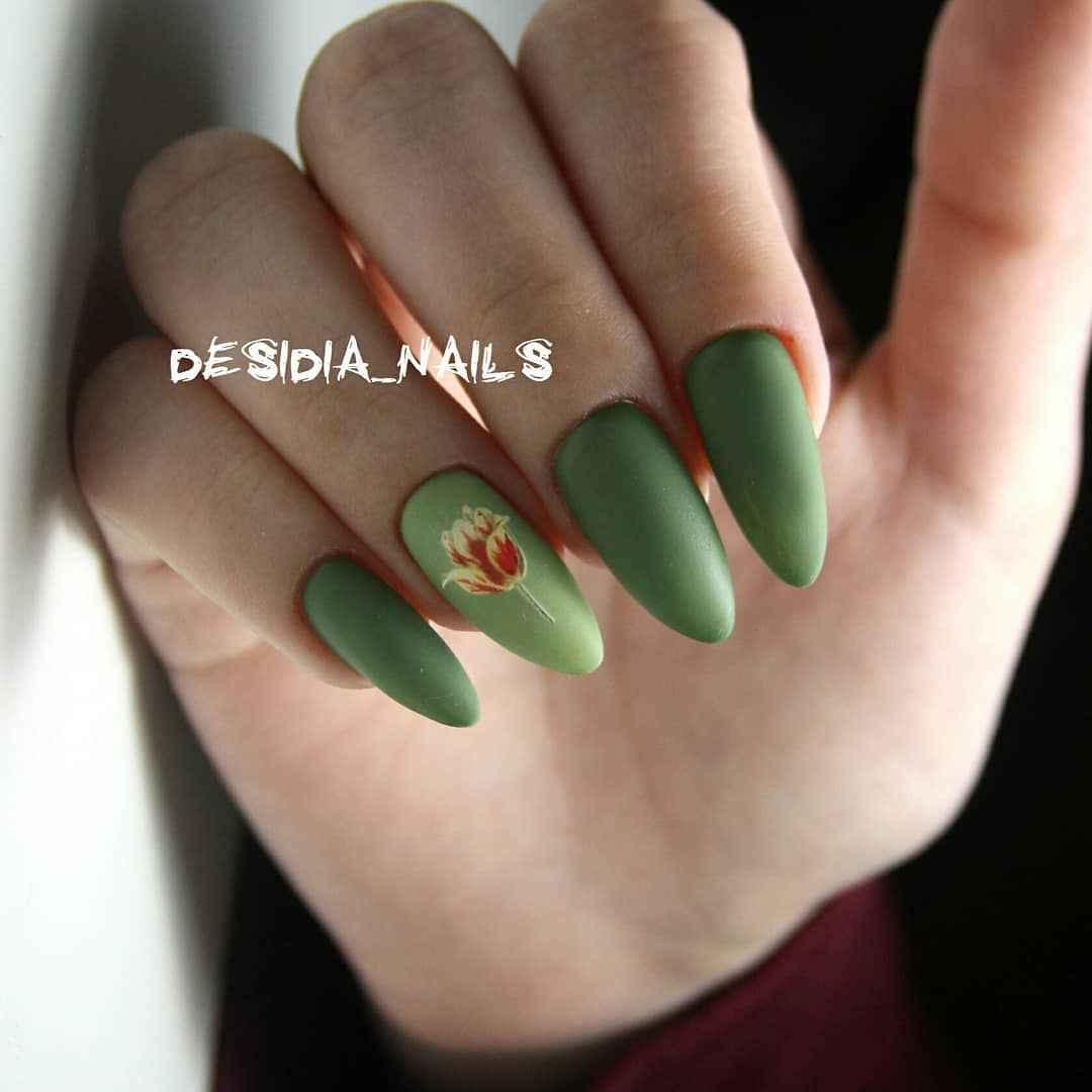 Тюльпаны на ногтях фото_24
